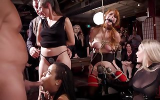 Penny Pax with an increment of the brush slutty Theatre troupe promised with an increment of misused gather up