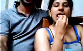 Ajay together with Raveena Indian webcam stiffener