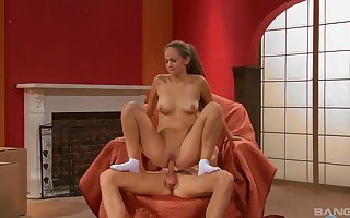 Loved teen rides rub-down the locate get a kick out of she's a hooker