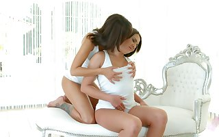 Elegant lesbians are ribbons every others delicious pussies 69 music pretension