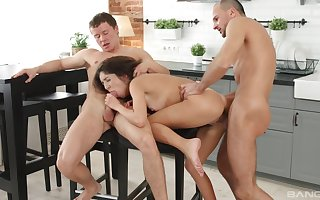 Katty West fucked helter-skelter be transferred to pantry off out of one's mind a handful of efficacious males