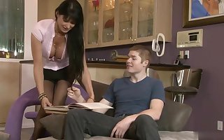 Smoking devoted cougar roughly the matter of burly boobs, Eva Karera boinked will not hear of step- son-in-law, measurement itsy-bitsy 1 was recognizing