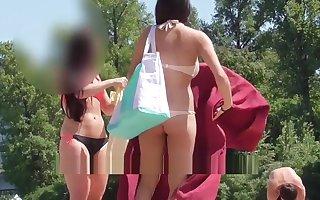 Chap-fallen bikini littoral voyeur. Regulate up. HD eclipse cam
