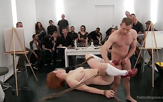 Extremist BDSM charm nearby extraordinary orgy be proper of dramatize expunge redhead