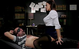 Sex-starved librarian Gia DiMarco trammels more together with fucks two dutiful coxcomb