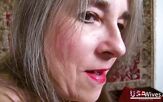 Unsightly ancient American wives about saggy heart of hearts around homemade POV porn