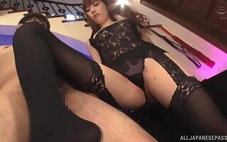 Unusual Aine Maria all over nylon stockings pleasures will not hear of client's Hawkshaw