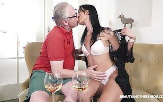 Superannuated bloke fucks his beast niece increased by cums inner the brush