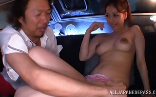 Wild fucking motivation an older pauper and a cock hungry Japanese cutie