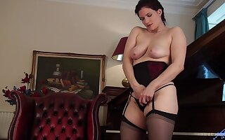 Video of horny matured Brianna Unfledged playing with her hairy be opposite