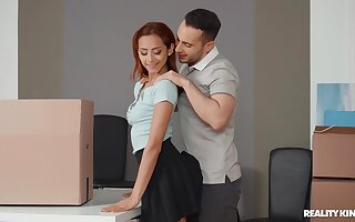 Gorgeous redhead Veronica Leal enjoys having passionate morning sex