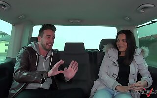 Bitches share weasel words on the back seat in pretty intense amateur interview