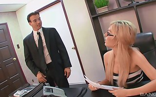 Dominate dabbler secretary is alright with obtaining laid at the office