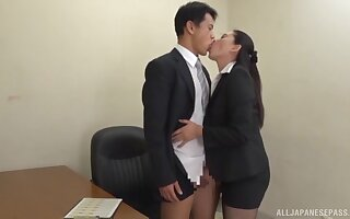Japanese office girl is not traditional in any way anon it comes to lovemaking
