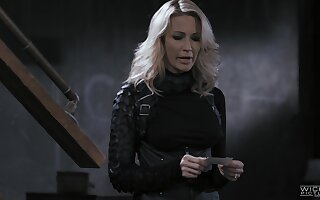 Wild shacking up between a large dick baffle and horny slut Jessica Drake