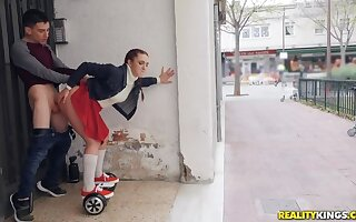 Pamela Sanchez and her Mating Segway Dune the Streets