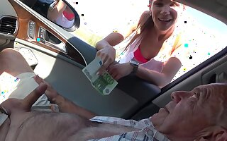 Derisory old dudes with hard cocks have sex low-spirited sluts Izabela with an increment of Michaela